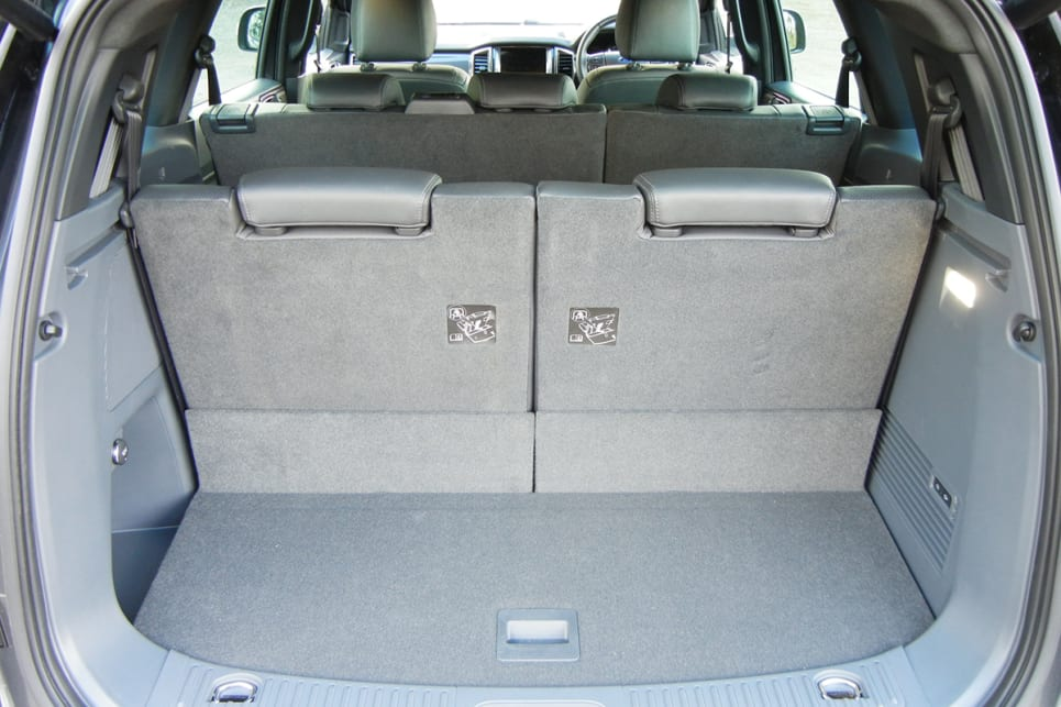 The internal cargo volume (up to roof height) starts at 450 litres behind the third row of seats. (Titanium variant shown)