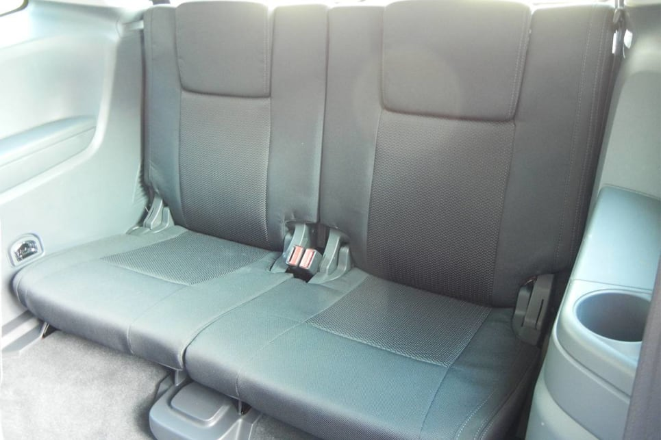 The third row of seating in seven-seater models, is better suited to kids. (Trend variant shown)