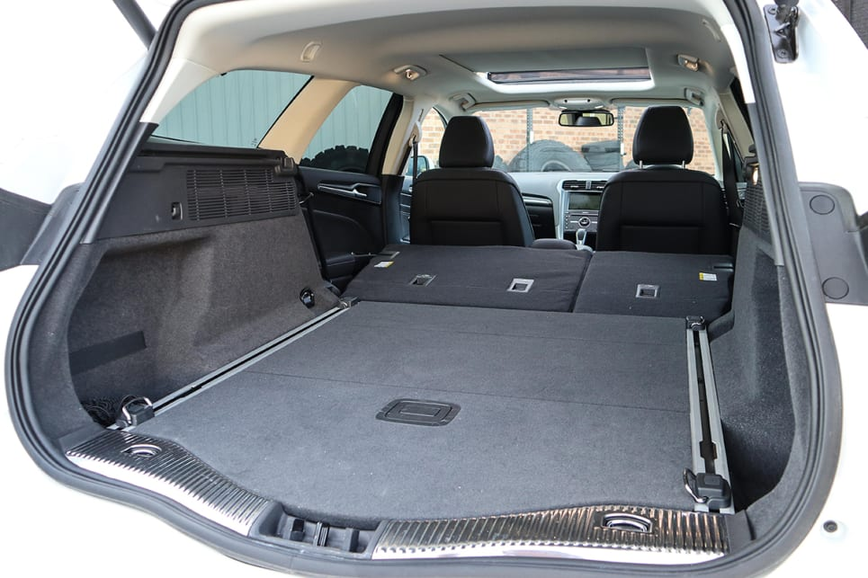 With the seats down there is 1605 litres of space. (image credit: Tim Robson)