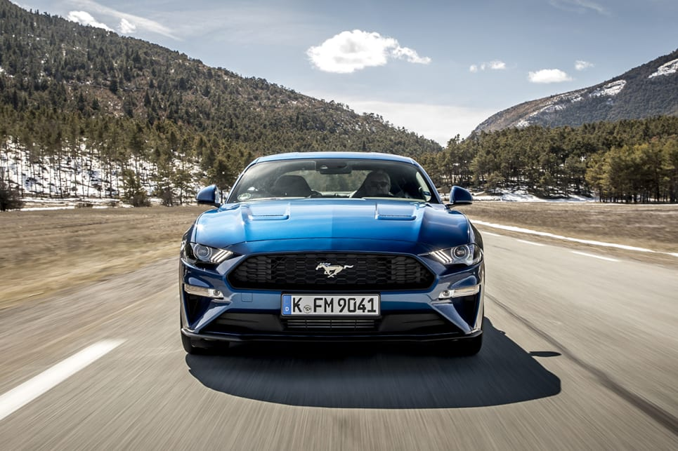 2018 Ford Mustang. (Ecoboost Fastback coupe variant shown)