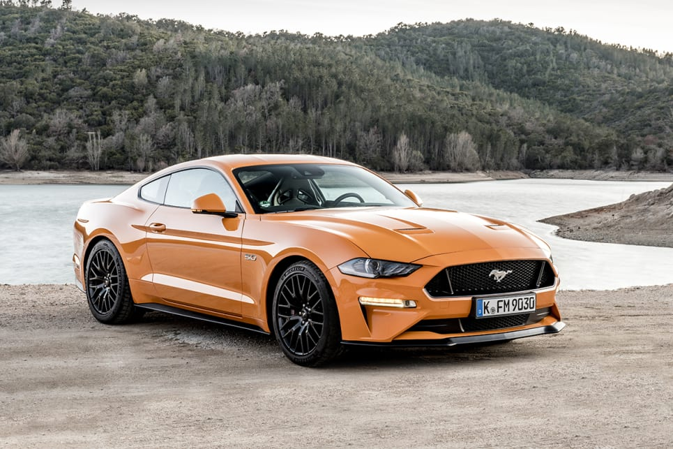 2018 Ford Mustang. (GT Fastback coupe variant shown)