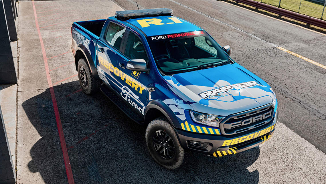 Ford's Ranger Raptor will be the recovery vehicle of choice for the Supercars Championship, starting from this weekend.