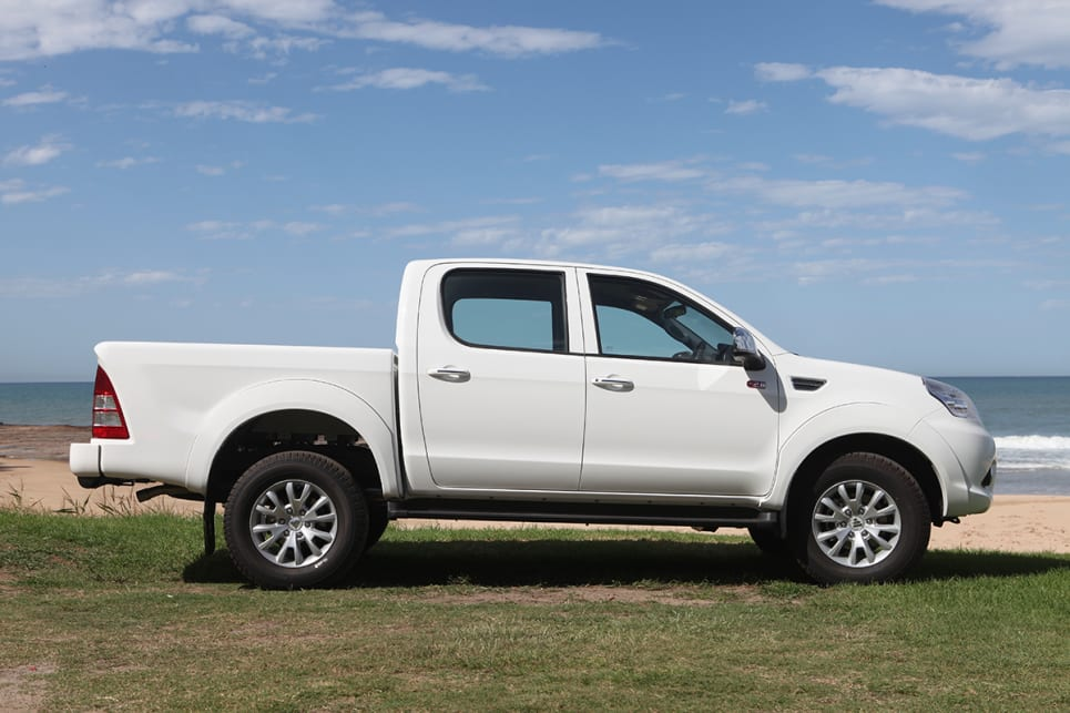 But it does have the squat stance a work-friendly ute should. (image: Marcus Craft)