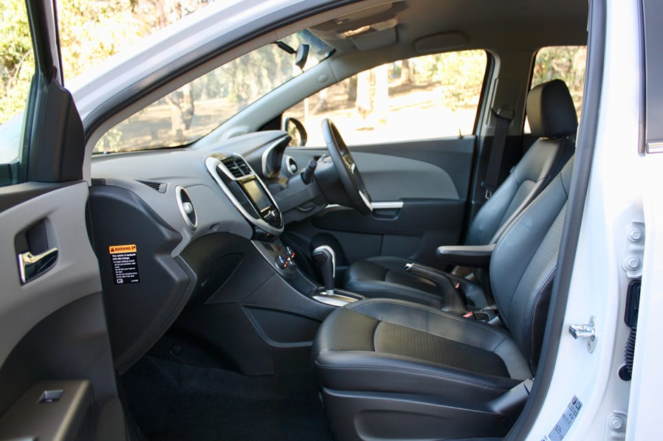 Taller drivers can lower themselves, but the passenger front seat doesn't have height adjust, and it sits quite high.