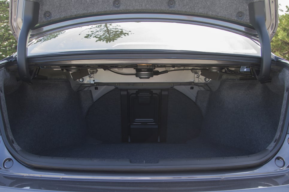 Cargo capacity starts with a 457-litre boot and you can drop the rear seatback for extra space, or use the ski port.