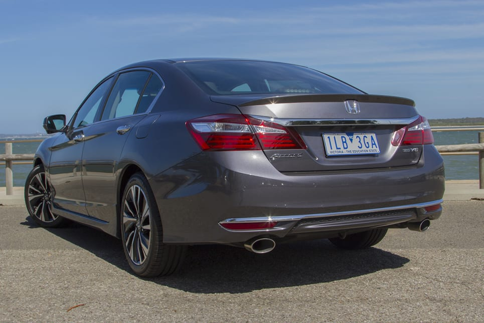 Apart from a slightly heavy-handed rear end, the Accord's exterior is quietly elegant.