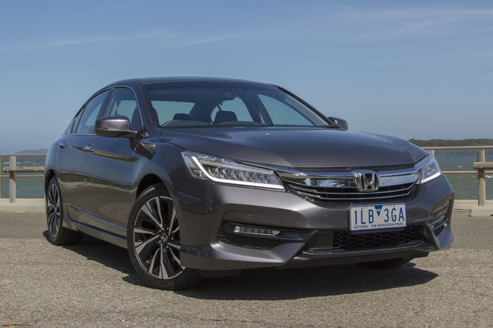 The Accord is one of Honda's more restrained efforts, with fewer mad lines, flourishes and creases than other models.