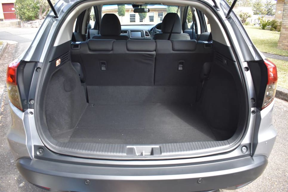 With the seats in place, boot space is rated at 437 litres VDA. (image credit: Mitchell Tulk)