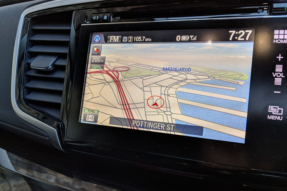 The 7.0-inch touchscreen interface looks a little dated, but it's easy to navigate and comes with standard nav. (image credit: Dan Pugh)