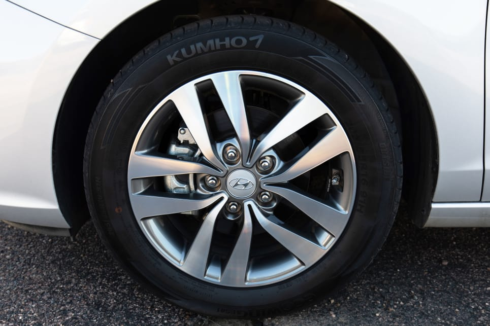 The i30's wheel design doesn't help with the rest of the car's sedate styling.