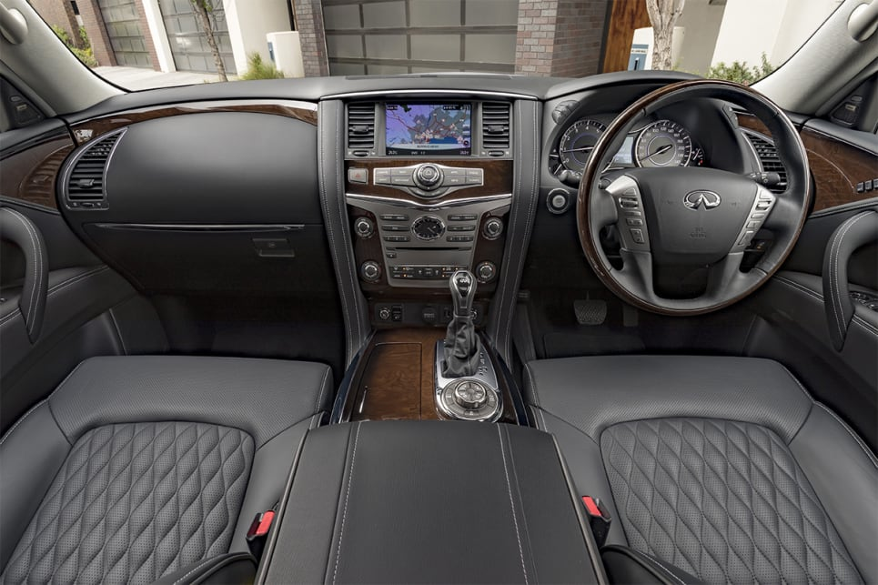 The interior includes a bigger, chunkier redesigned centre and rear console.