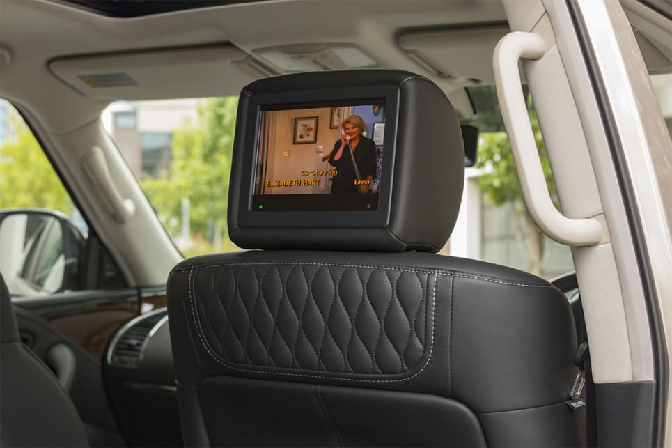 Second-row passengers now get 8.0-inch entertainment screens.