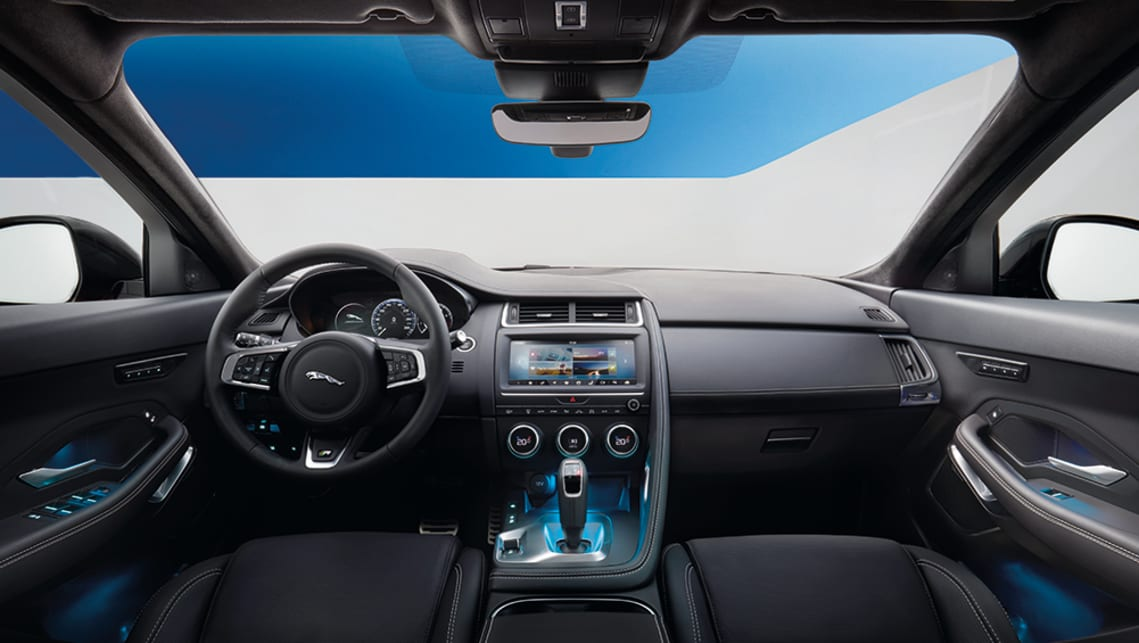 The interior will be familiar to anyone who has spent any time in recent Jaguar products.
