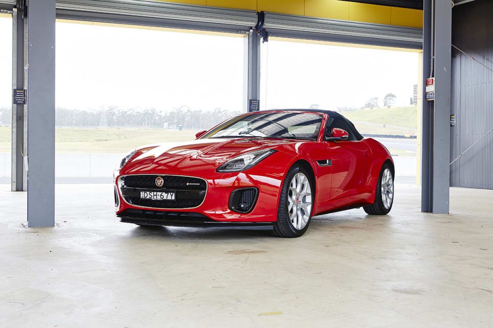 The F-Type four-cylinder model is almost indistinguishable as being the most affordable version in the range.