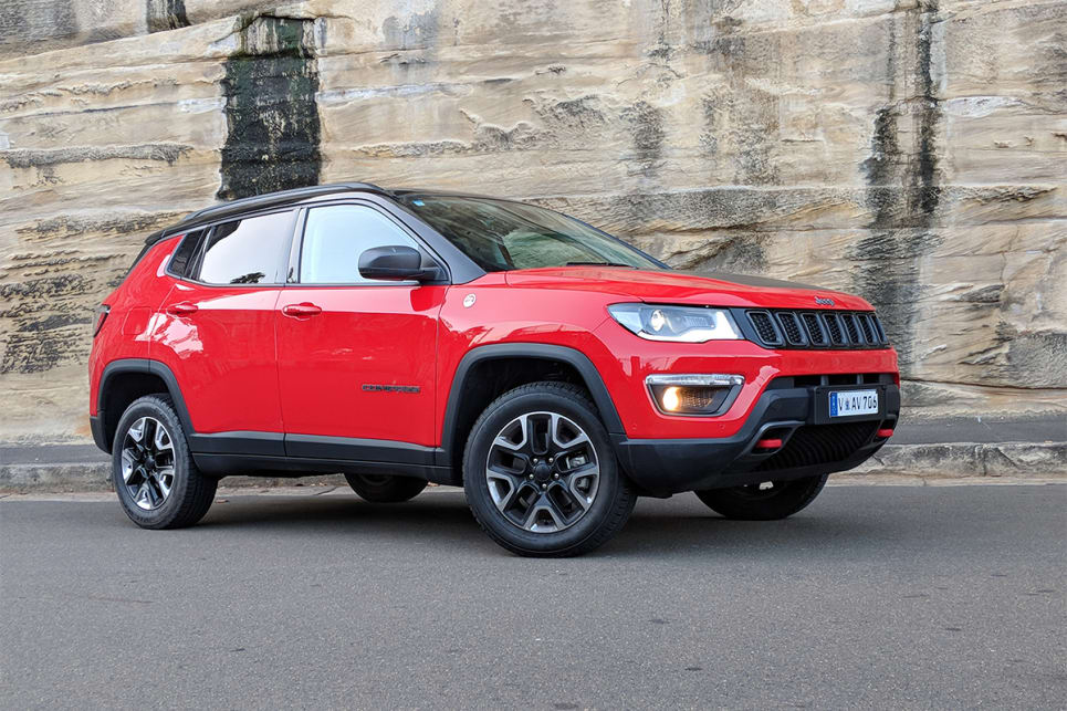 The Trailhawk's more rugged look sets it apart from its metro-flavoured SUV competitors. (image credit: Dan Pugh)