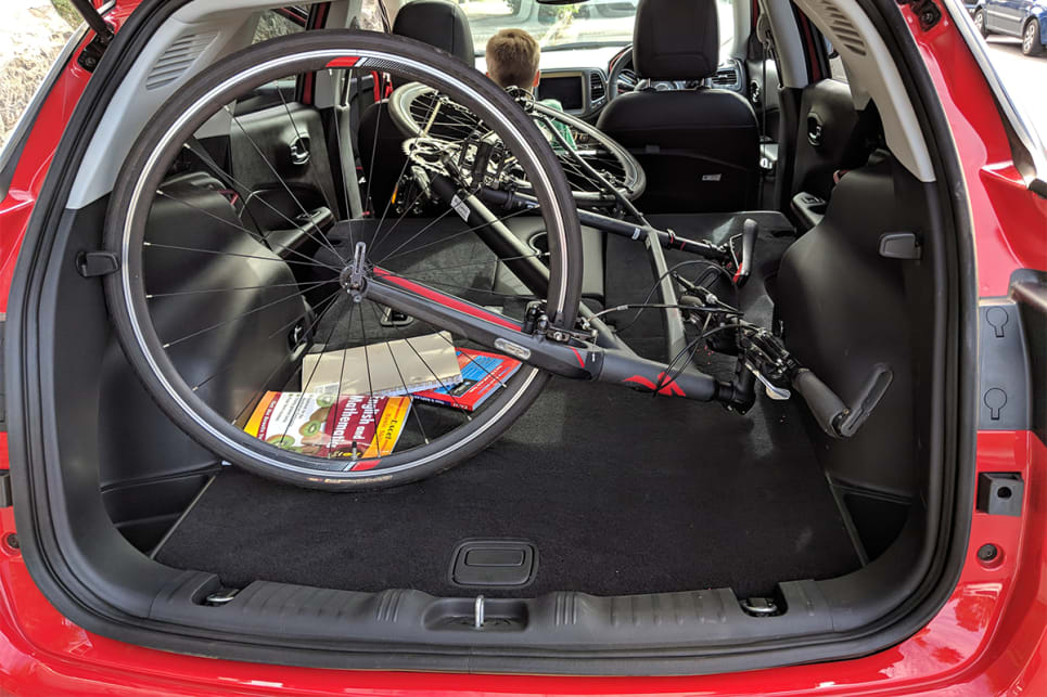 With the seats folded down there's enough space to swallow my bike. (image credit: Dan Pugh)