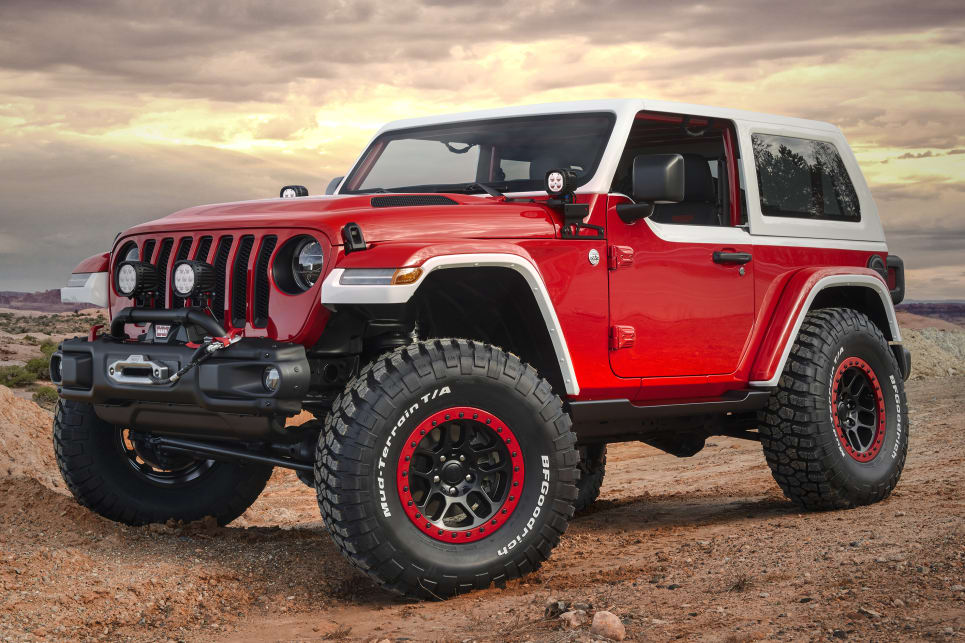 Jeep Wrangler Jeepster 2018 Moab concept.
