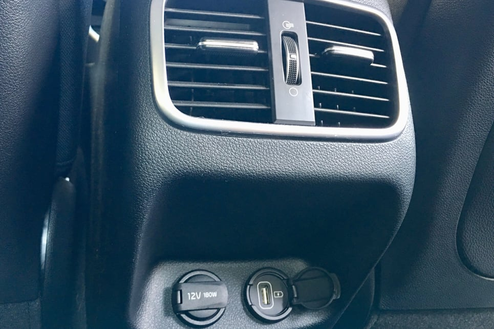 Even on this base model you get a dual-zone climate control air conditioner and USB input. (image credit: Matt Campbell)