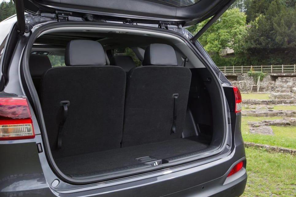 The Sorento has 605L in five-seat mode and a total cargo volume of 1662L