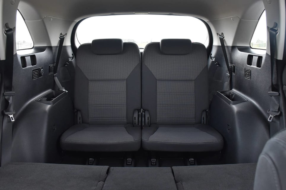 The smaller space in the Kia is understandable, due to the car's physically smaller size. (image credit: Thomas White)