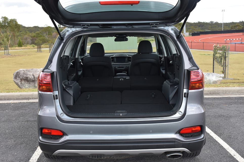 The Kia manages to be second-best for claimed capacity, with a boot space of 605L with five seats up and 142L with seven in place. (image credit: Thomas White)