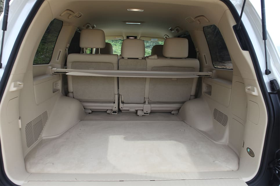 Lexus claims the 450d offers 909 litres of cargo space if there are five occupants.