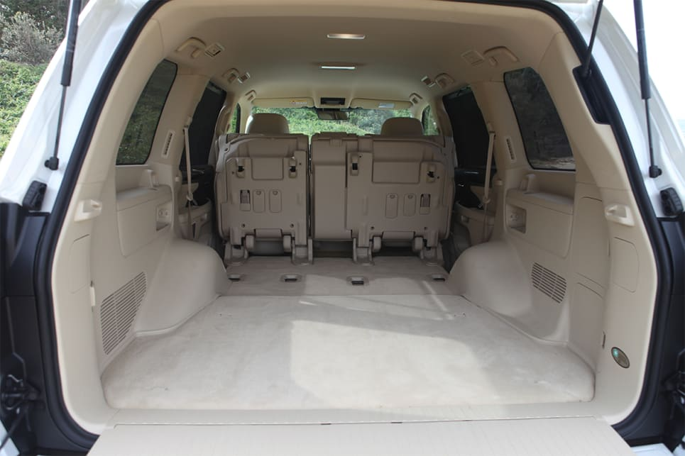 With the rear seats down there is 1431 litres iof boot space.