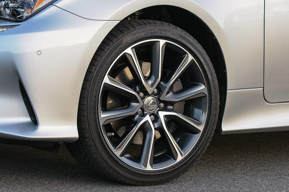 Luxury cars get 18-inch alloy wheels and F Sport cars add bigger 19-inch alloys. (RC300 pictured)