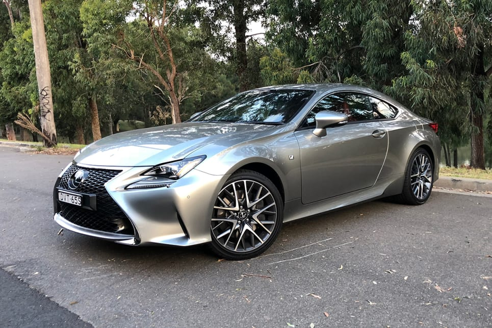 Angle finder: The Lexus RC  is the car that reinvented the Lexus look, and arguably made it exciting. And the new one keeps up the good work. (RC350 pictured) (image: Andrew Chesterton)
