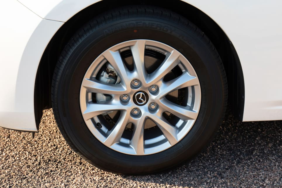 The Mazda 3's wheels are a good design.