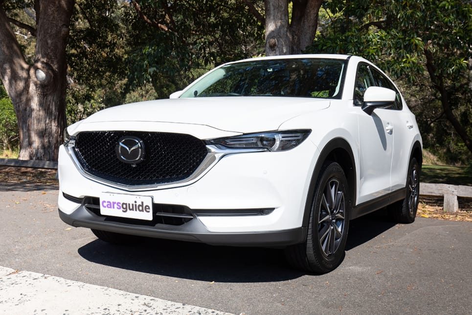 The Mazda CX-5 features 90-degree opening rear doors and a full suite of active safety kit across the range.