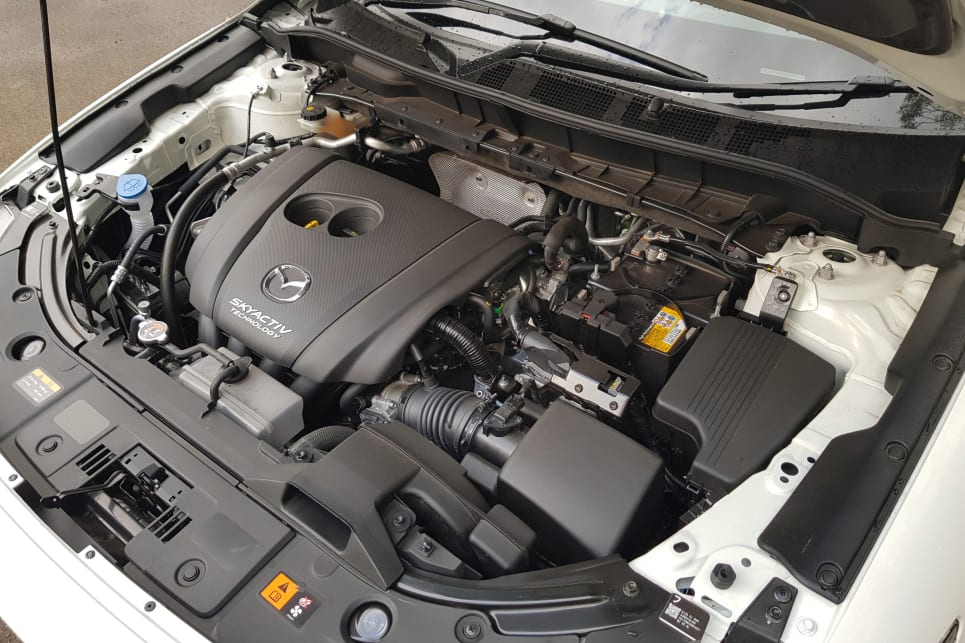The 2.5-litre petrol engine means all-wheel drive with the six-speed auto transmission.
