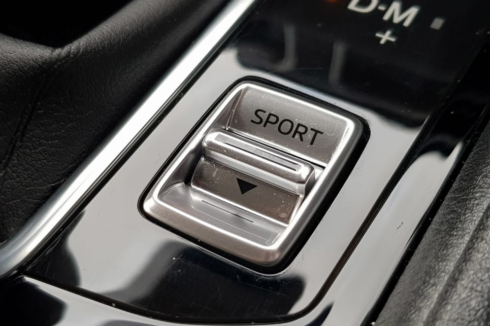 The auto is reluctant to downshift when not in Sport mode for the sake of fuel consumption.