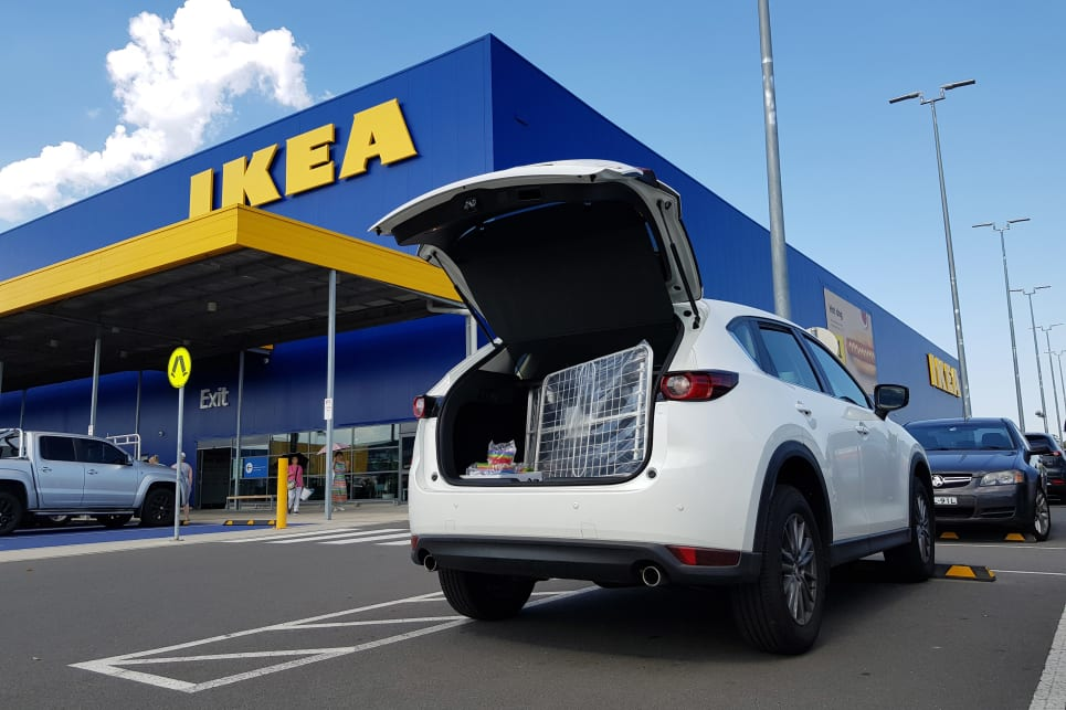 The CX-5 Touring's boot is IKEA friendly.