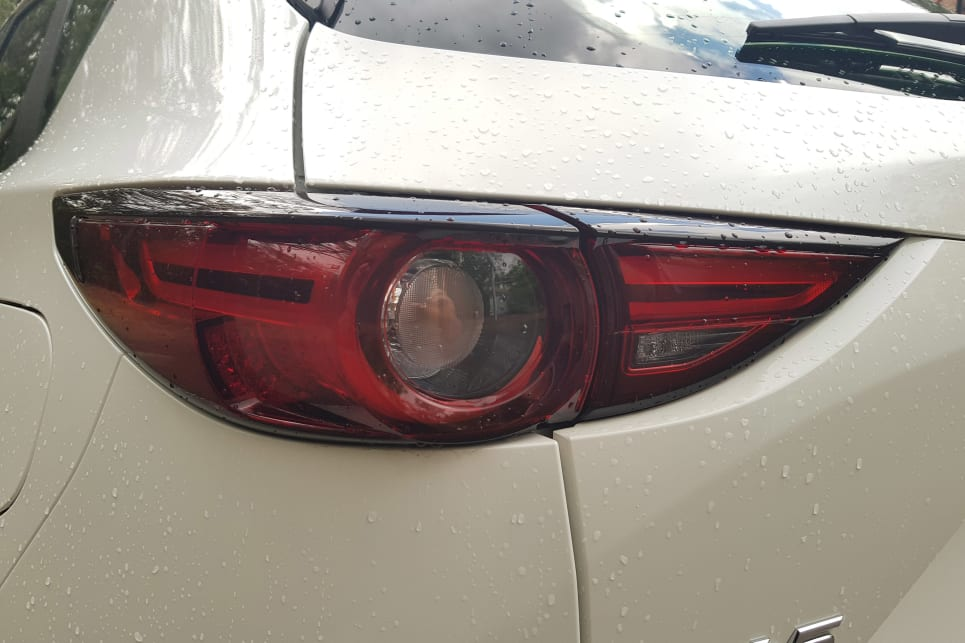 Most CX-5's on the road seem to be white, but I feel this makes the head and tail-lights look a bit too squinty.