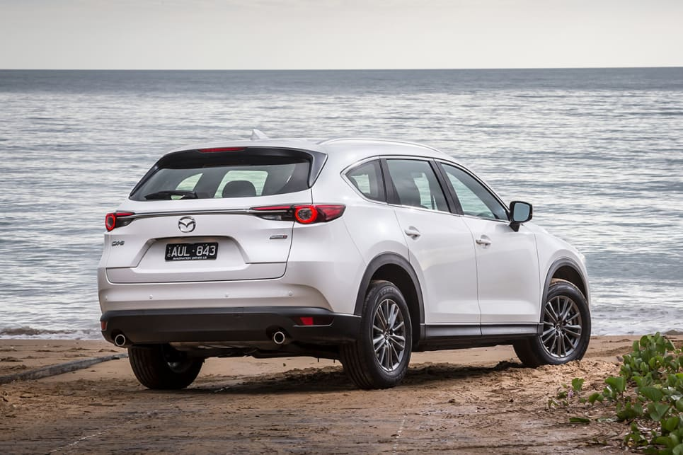 Retaining the CX-5's 1840mm width was important for easier maneuverability. (CX-8 Sport pictured)