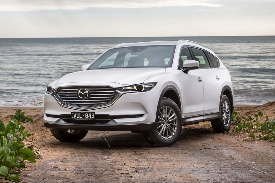 What has seven seats, the legs of a CX-9 and the face of a CX-5? Mazda's new CX-8 mid-large SUV. (CX-8 Sport pictured)