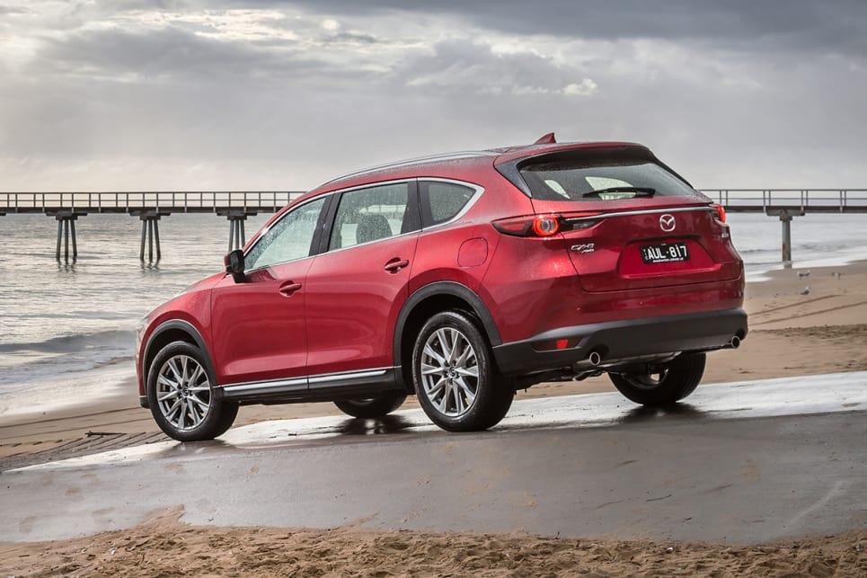 Rather than a smaller CX-9, it's fairest to describe the CX-8 as a long-wheelbase CX-5. (CX-8 Asaki pictured)
