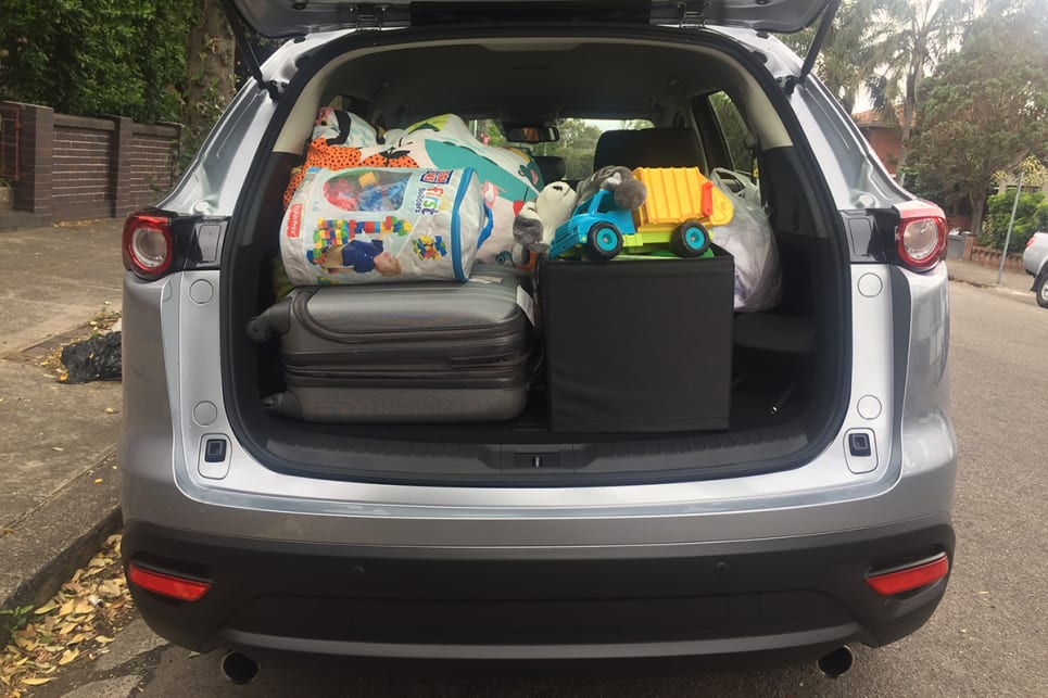 The Kluger can only manage a luggage capacity of 529L.