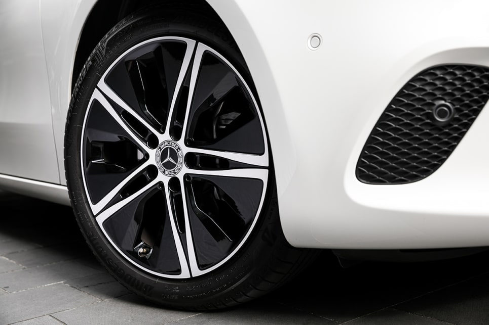 The A200 comes standard with 18-inch alloy wheels.