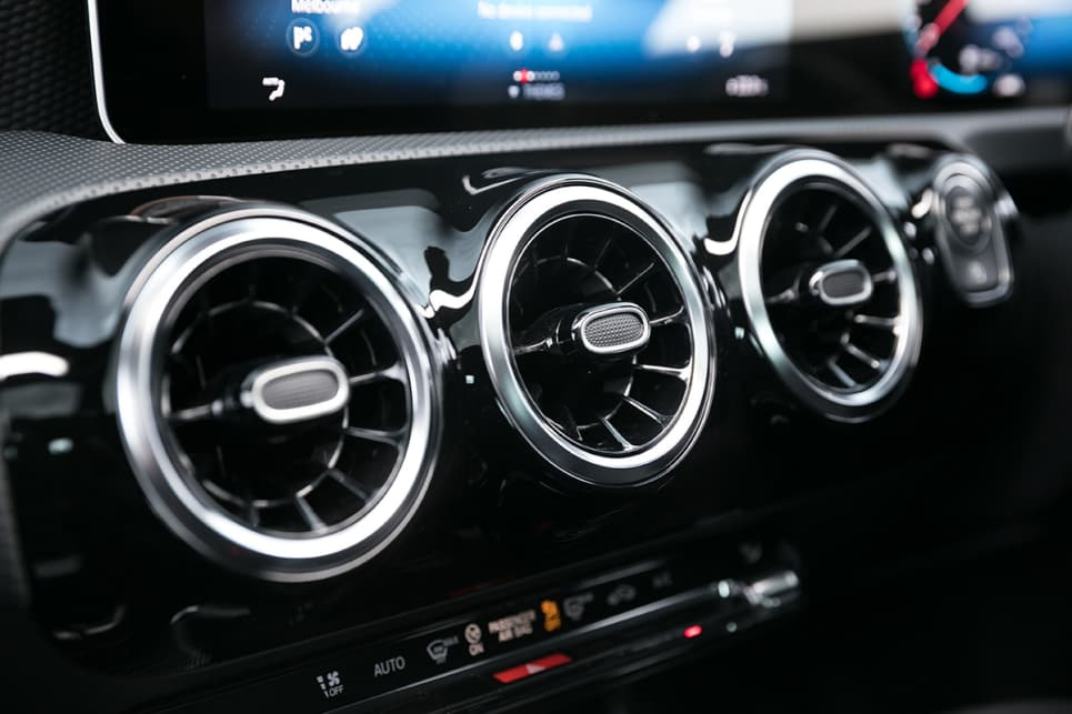 Grab yourself the AMG Exclusive package and your air vents will be lit up with glowing LEDs.