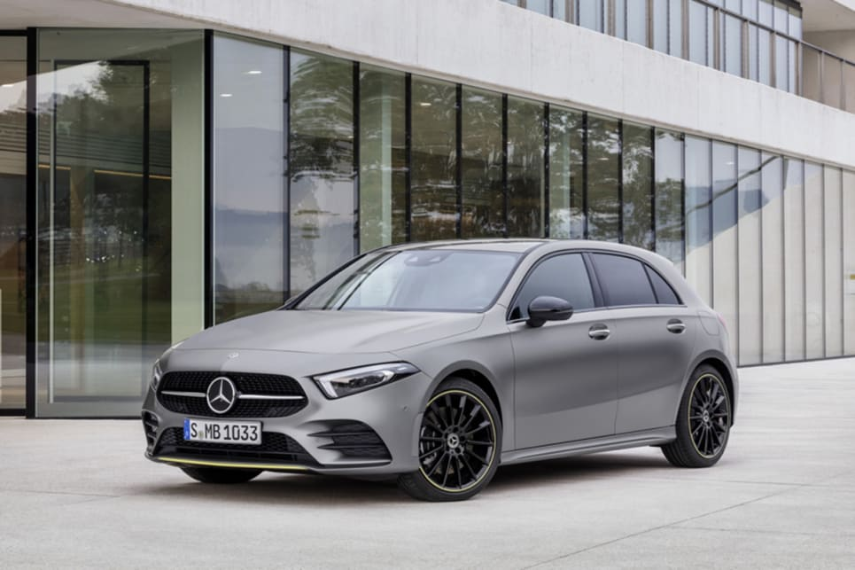 The luxury brand showcased several different versions of the A-Class – all of them looking sharper and more serious than the predecessor model.