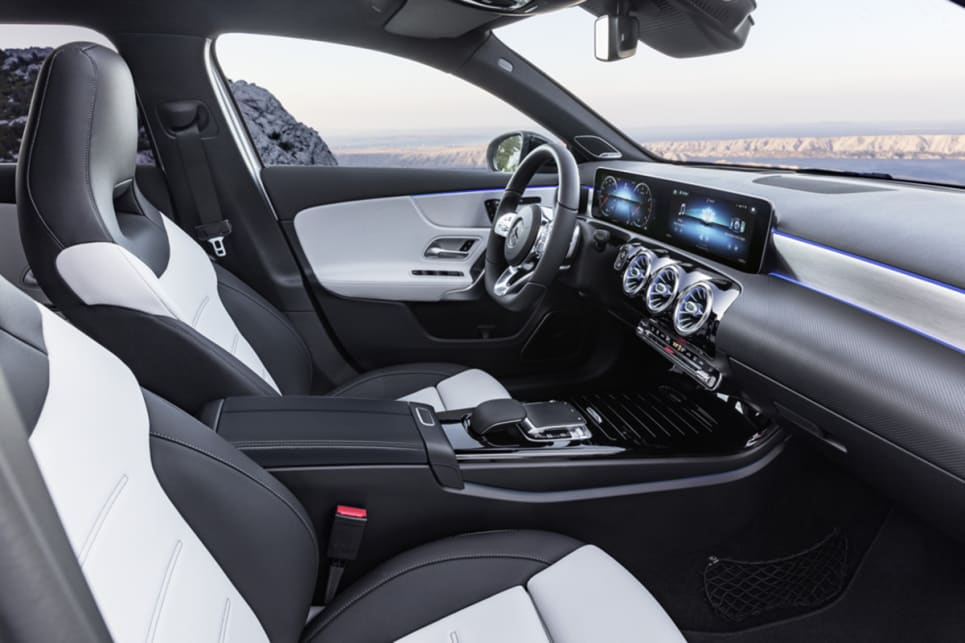 The interior has seen a major makeover, with the most notable change being the twin screens that span almost two-thirds of the dashboard.