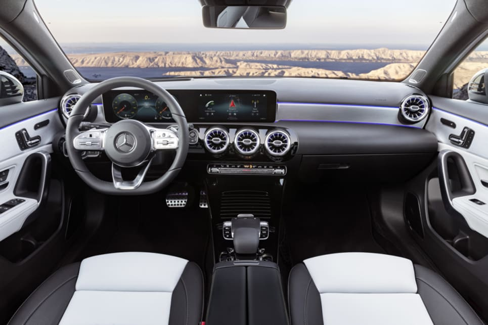 The Widescreen Cockpit, as Mercedes-Benz labels it, is an all-new infotainment system known as MBUX (Mercedes-Benz User Experience).