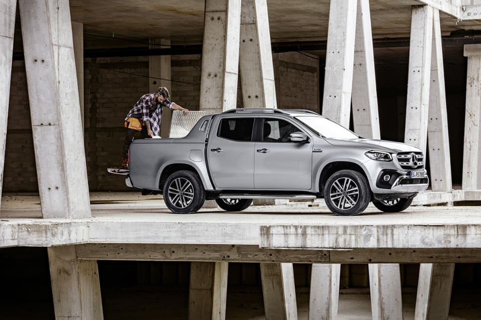 Even its less-powerful siblings cut a fine figure on the road, and the V6-powered X-Class is no less handsome in the metal.