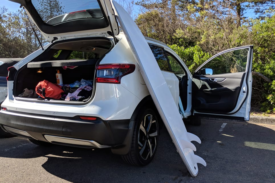 For the afternoon trip to the beach we packed the Qashqai's boot, which at 430 litres is bettered only by Honda's HR-V.