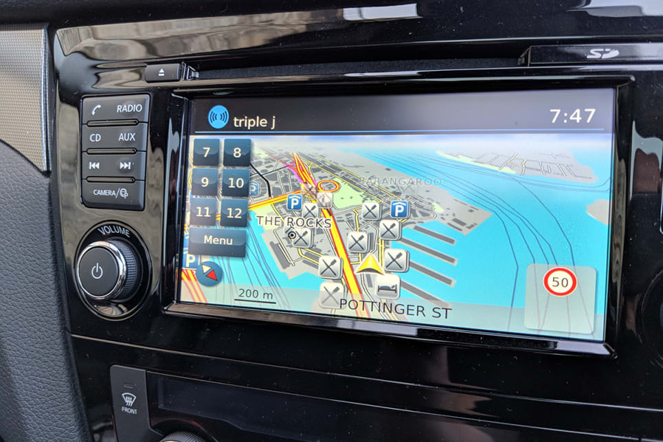 The N-TEC is let down somewhat by the 7.0-inch touchscreen.