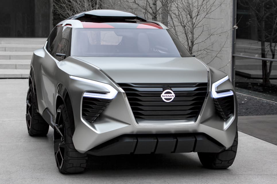 Nissan says the Xmotion draws on traditional Japanese aesthetics, materials and design to develop its unique visage.
