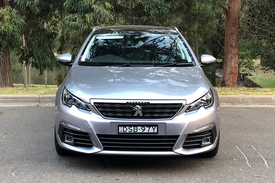 The two-tier and textured Peugeot grille looks clean and purposeful. (image credit: Andrew Chesterton)
