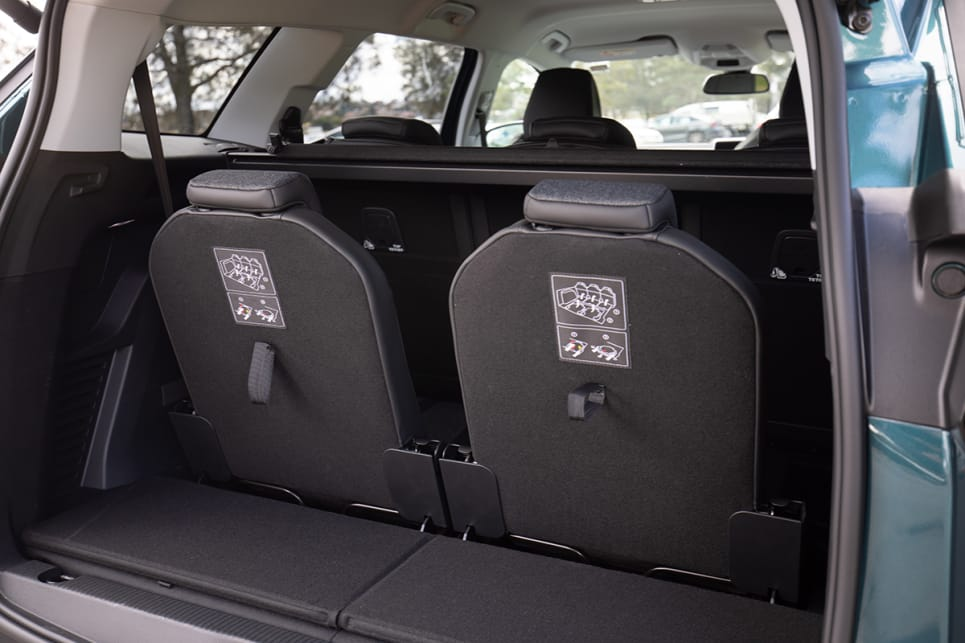 With the two seats up, the boot space shrinks dramatically, but you'll still be able to fit school bags or groceries.